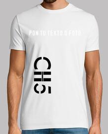 Camiseta CH5 Logo desing NEGRO chico