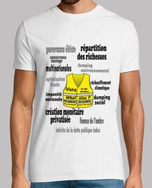 camiseta chaleco hombre amarillo reclamaciones