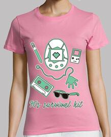 Camiseta Chica - 90s survival kit