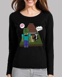 Camiseta Chica  Minecraft Tu Fuera Por Feo