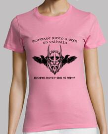 Camiseta chica Brindis en Valhalla negro