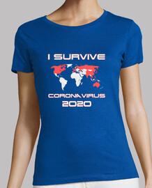 Camiseta chica Coronavirus mapa