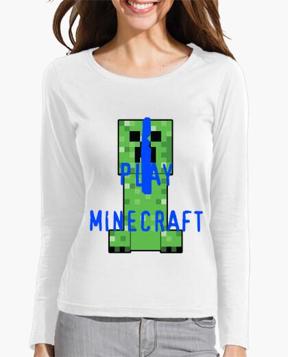 Camiseta Chica Creeper Minecraft