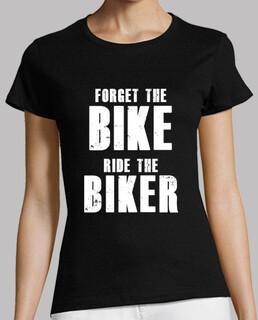 camiseta chica das fahrrad vergessen, fahren die biker