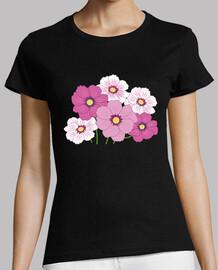 Camiseta chica Flores rosas