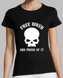 Camiseta chica Free biker