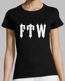 camiseta chica fuck the world