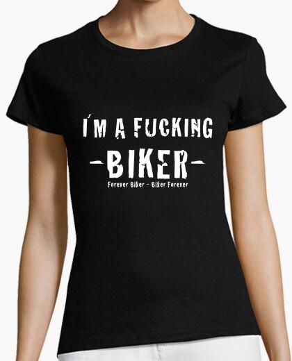 Camiseta chica Fucking Biker
