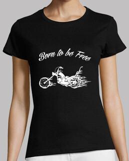 camiseta chica geboren , frei zu sein