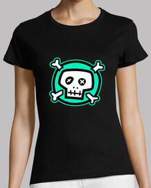 Camiseta chica green skull