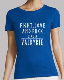 Camiseta chica like a valkyrie