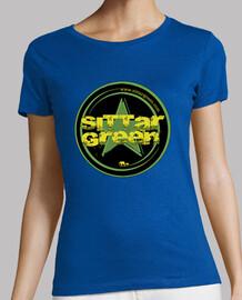 Camiseta chica logo Sittar 2017 green