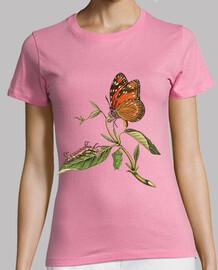 Camiseta chica mariposa vintage