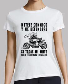 Camiseta chica No toques mi moto