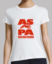 Camiseta chica oficial A.S.P.A Modelo 1 blanco