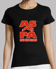 Camiseta chica oficial A.S.P.A Modelo 1 negro