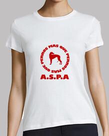 Camiseta chica oficial A.S.P.A Modelo 2 blanco