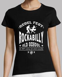 Camiseta chica Rockabilly old school