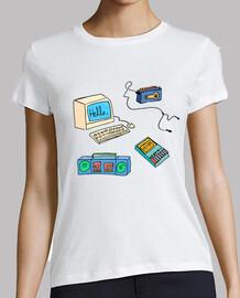 Camiseta chica tecnología vintage