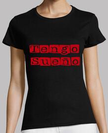 Camiseta chica Tengo Sueño Rojo