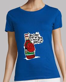 Camiseta chica tomate, el jugo que me amarga