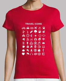 Camiseta chica Travel Icons
