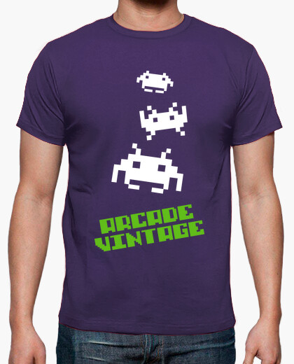 Camiseta Chico Arcade Vintage 3 Invaders