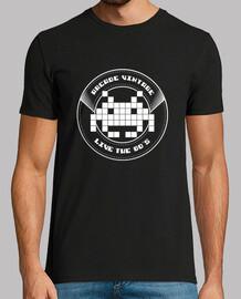 Camiseta Chico Arcade Vintage Logo Blanco