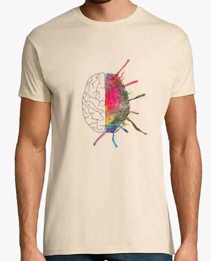Camiseta chico cerebro color