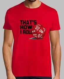 Camiseta chico Dado de rol