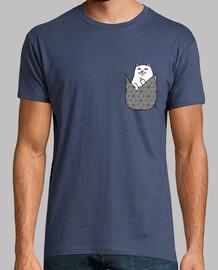 Camiseta chico Gato-Bolsillo