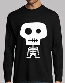Camiseta chico manga larga. Esqueleto varios colores