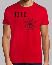 camiseta chico roja tela araña 1312