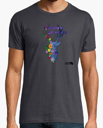 Camiseta Ciervo flores.