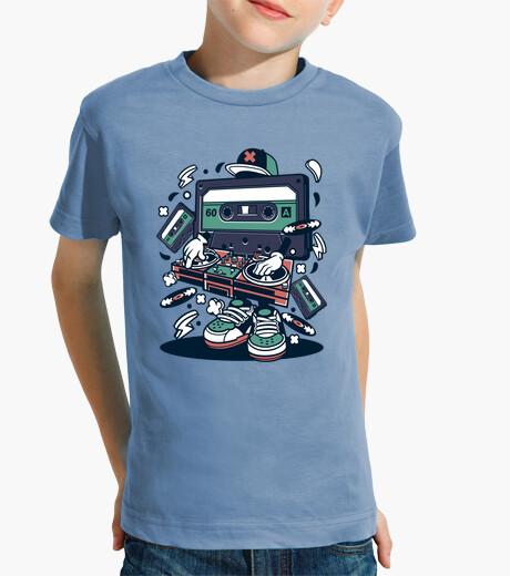 Ropa infantil Camiseta Cinta Cassette Reto Vintage Música