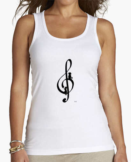 Camiseta Clave de sol gatuna