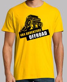Camiseta Coche 4x4 Aventuras OffRoad Retro Vintage