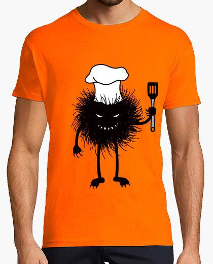 Camiseta cocinero divertido insecto mal le encanta cocinar