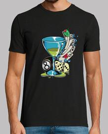 Camiseta Cóctel Poker Dados Cartas Retro