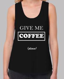 Camiseta Coffee tirantes