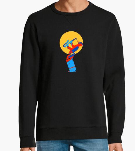 Jersey camiseta colorida del músico del saxofó