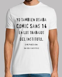 Camiseta Comic Sans 14 - Tonos claros