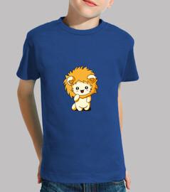 camiseta con capucha de niño con gato león