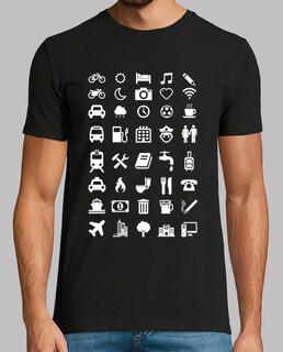 Camiseta con emoticonos para viajeros