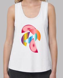 camiseta con medios círculos
