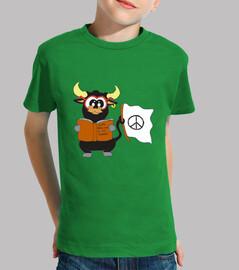 Camiseta con mensaje antitaurino para niños