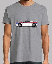 Camiseta con mi dibujo del Lancia 037