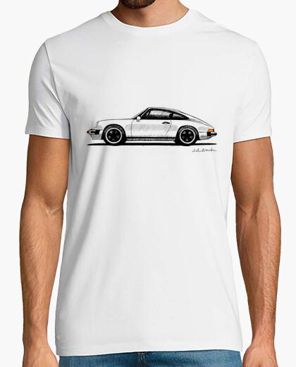 Camiseta con mi dibujo del Porsche 911 SC (marcos negros)
