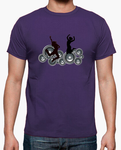 Camiseta con pareja bailando en los altavoces de soni