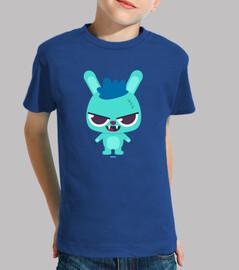 Camiseta conejo cabreado niño/a, manga corta, varios colores
